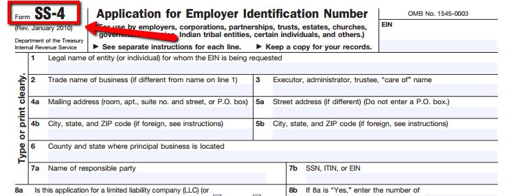 IRSのサイトから申請書類のPDFをダウンロードする