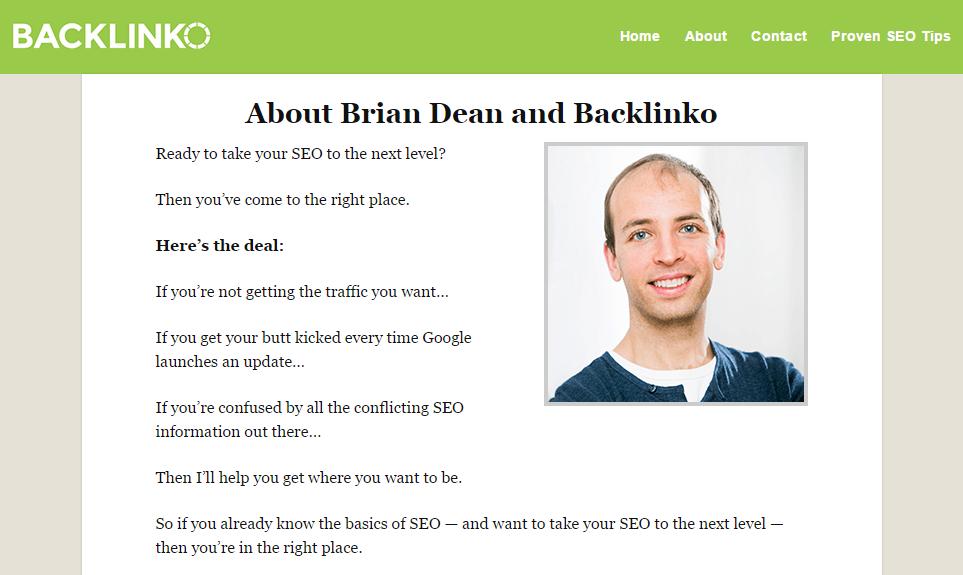 Backlinkoの概要ページ