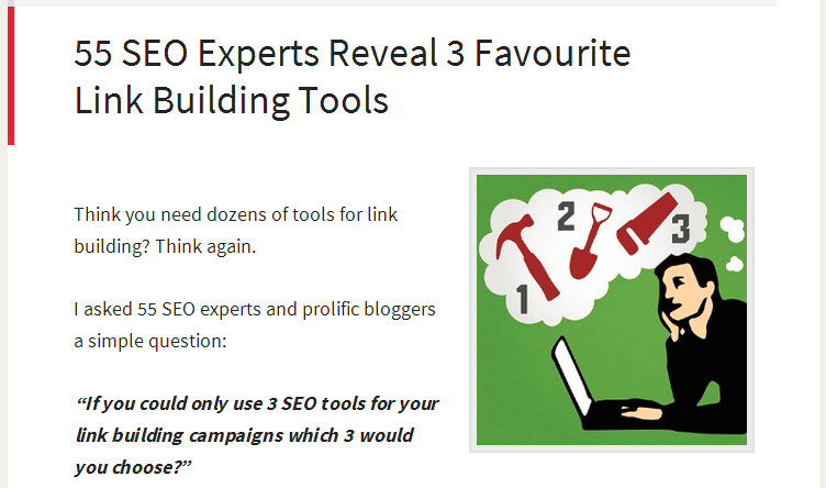 55 SEO Experts Reveal 3 Favourite Link Building Tools