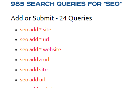Link Prospecting Query Builder