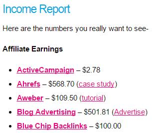 収入レポート