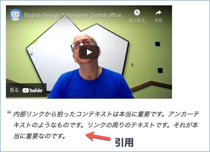 動画の引用例